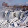 Замерзшие воды Ниагарского водопада
