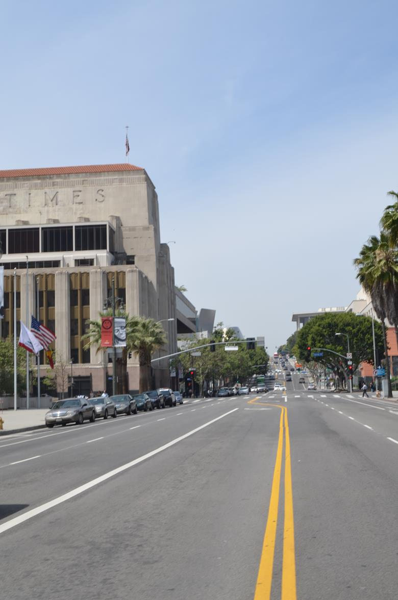 Пешая прогулка по центру Лос Анджелеса
