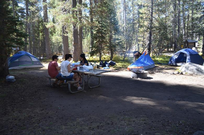 Кэмпинг в Yosemite
