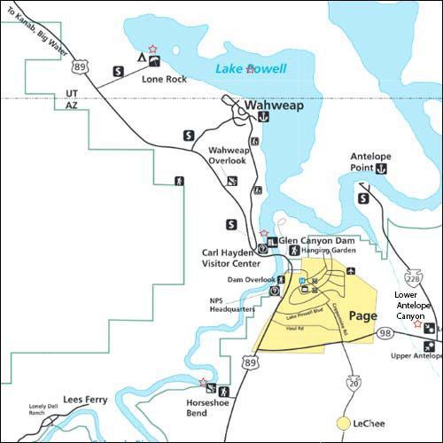 Page Arizone map