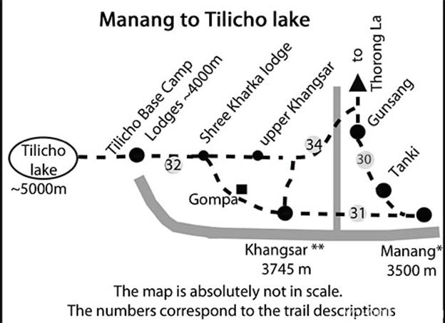 Тропа от озера Тиличо к Як Кхарке