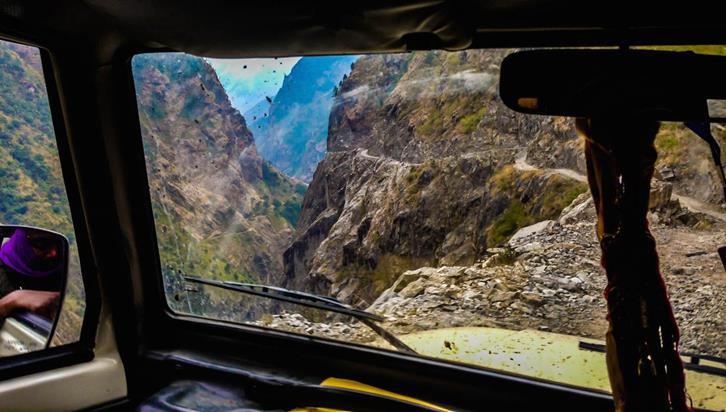 Дорога от Катманду до деревни Dharapani через Besisahar